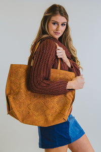 Aztec Shoulder Bag Brown