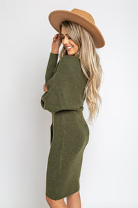 Emmy Sweater Dress Olive