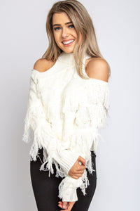 Heather Fringe Sweater