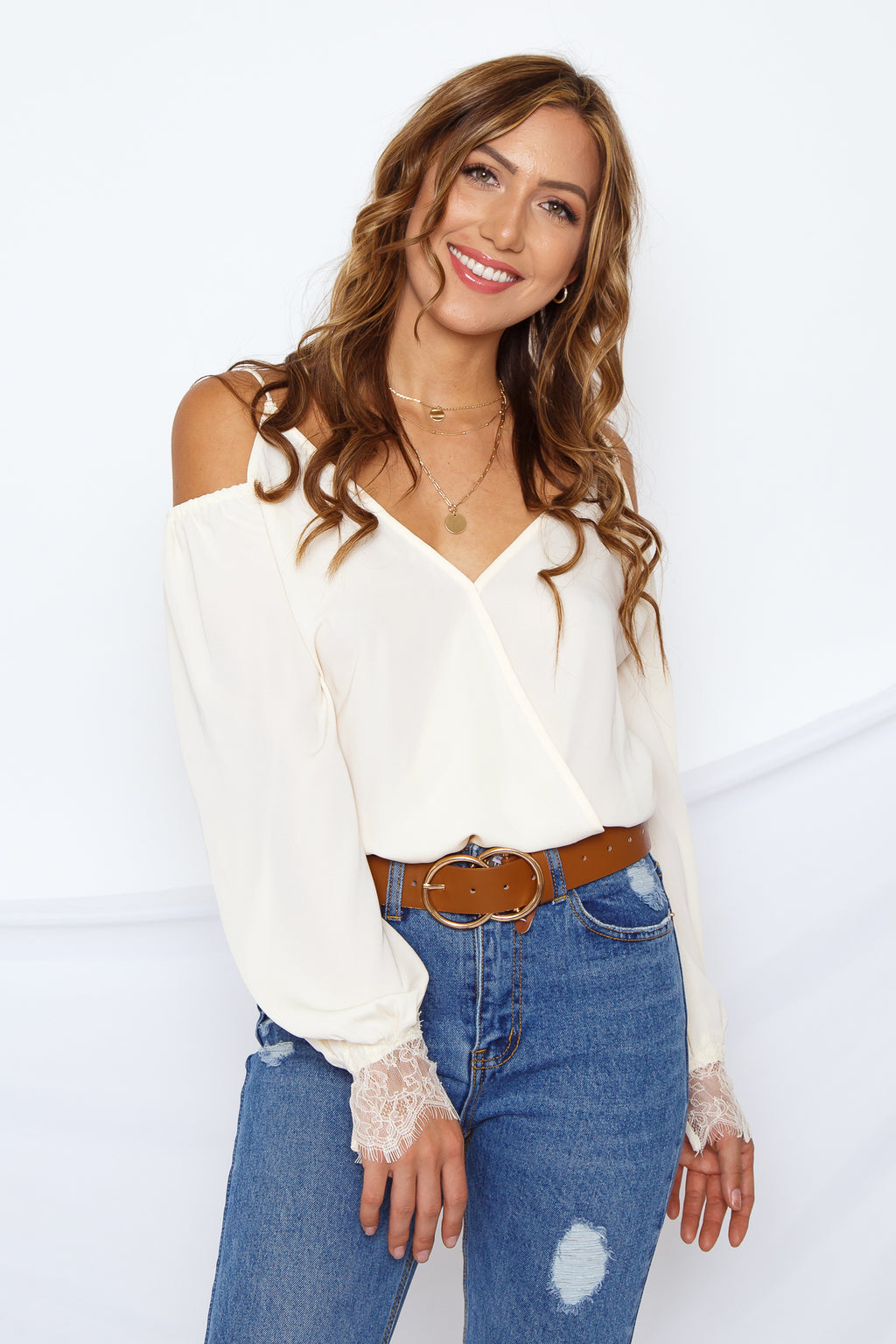 Slay It Cold Shoulder Bodysuit