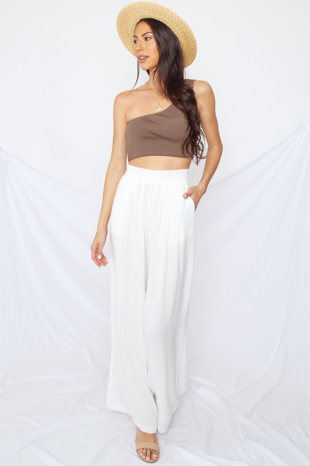 Serena One Shoulder Crop Top