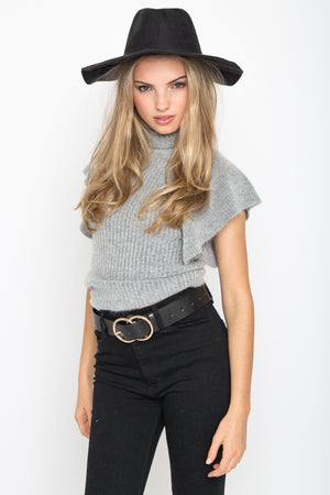 Riley Ruffle Sweater Top