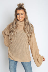 Evie Open Back Sweater