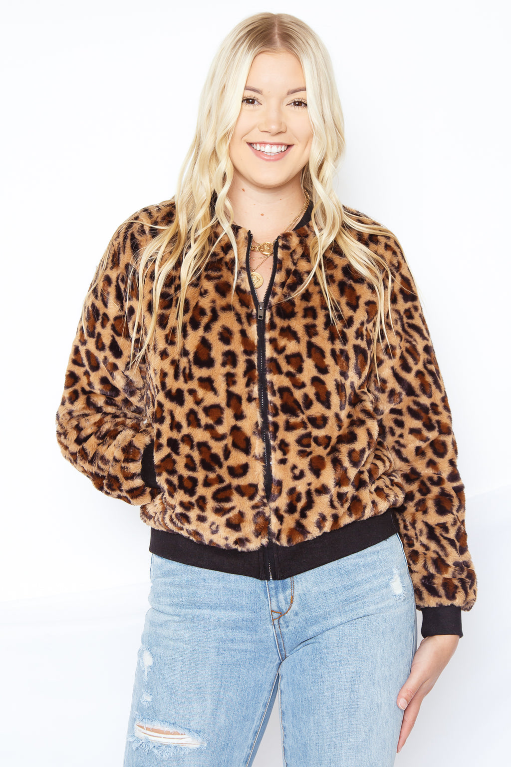 Foxy Faux Fur Jacket