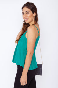Anya Flared Cami Green