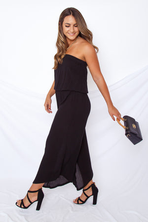 Strapless Cropped Jumpsuit