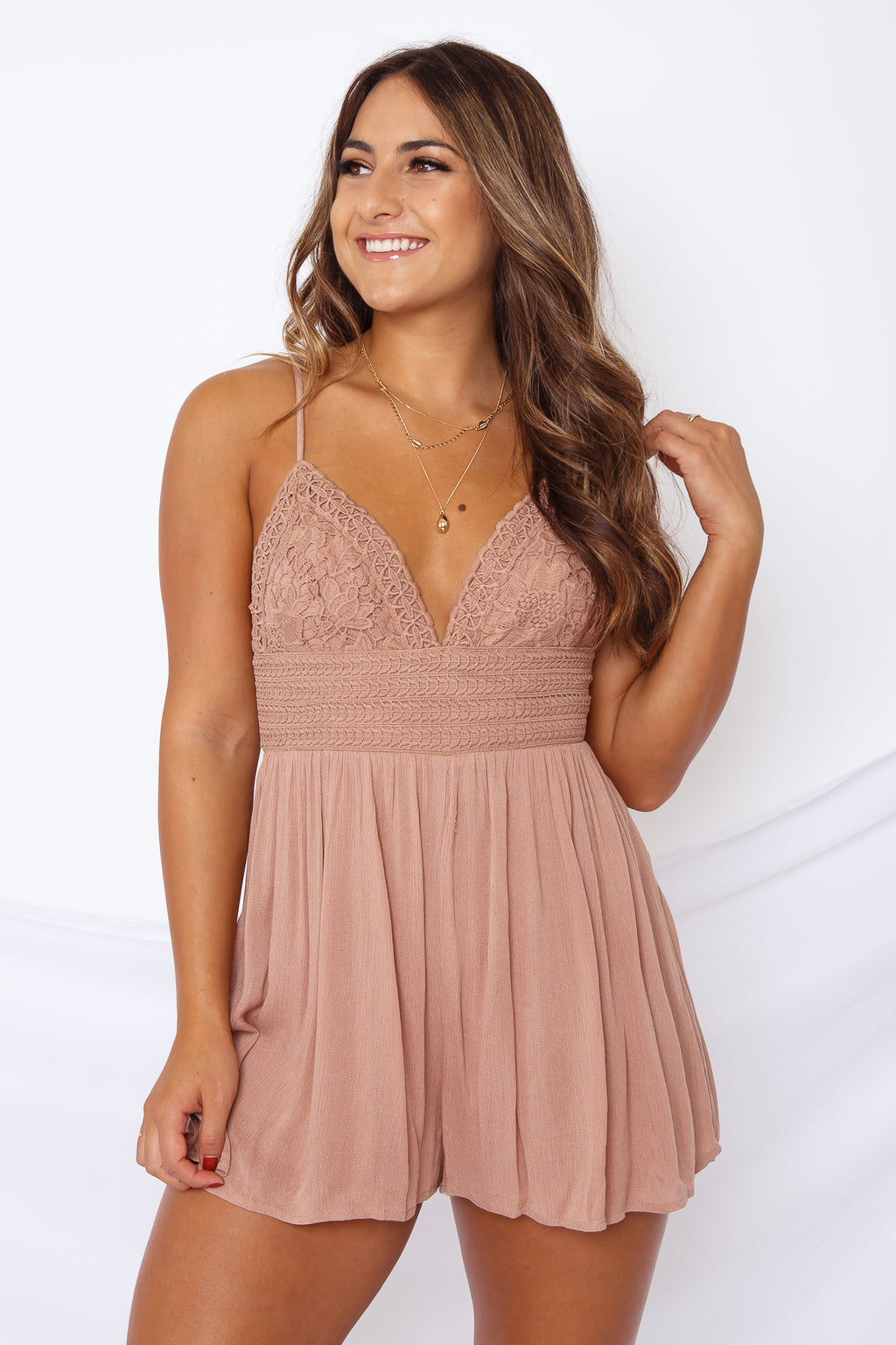 Esme Romper Dust Rose