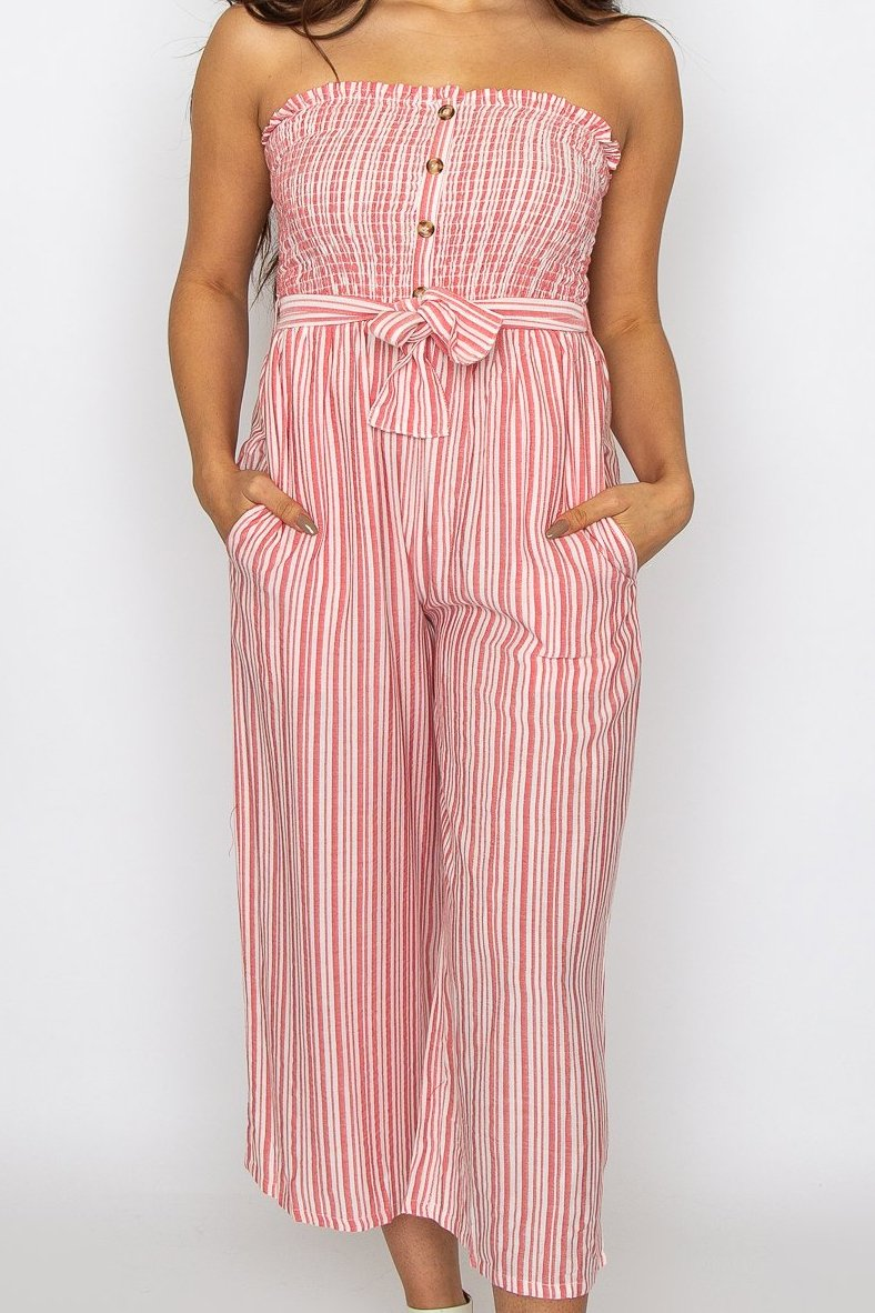 Alexia Jumpsuit Red