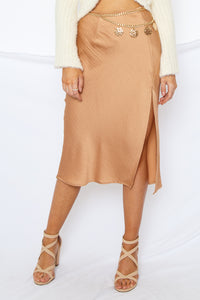 NYC Midi Skirt Tan