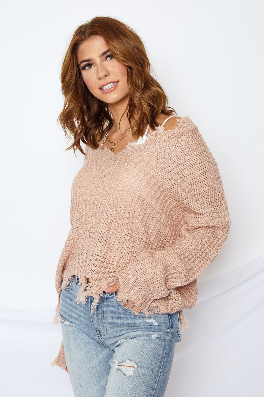Ditsy Sweater Blush