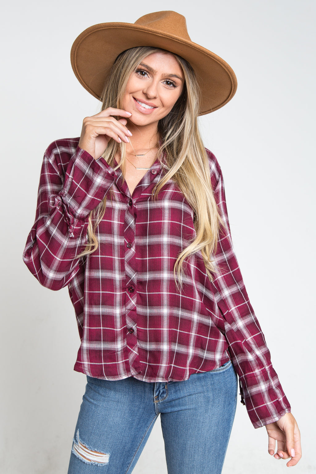 Chelsea Plaid Top