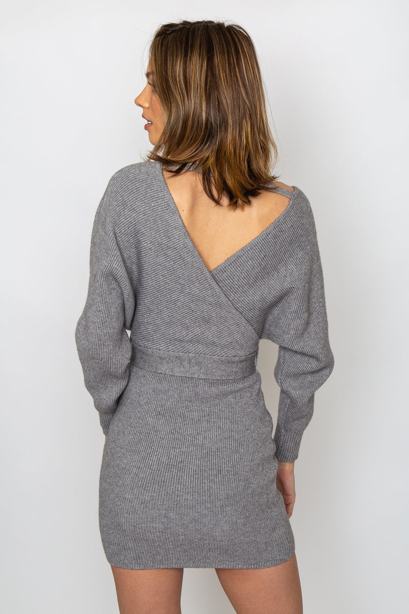 Emma Sweater Dress Grey