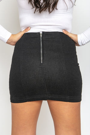 Ditsy Denim Skirt