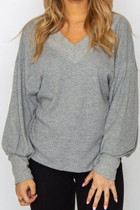 Kathleen Top Grey