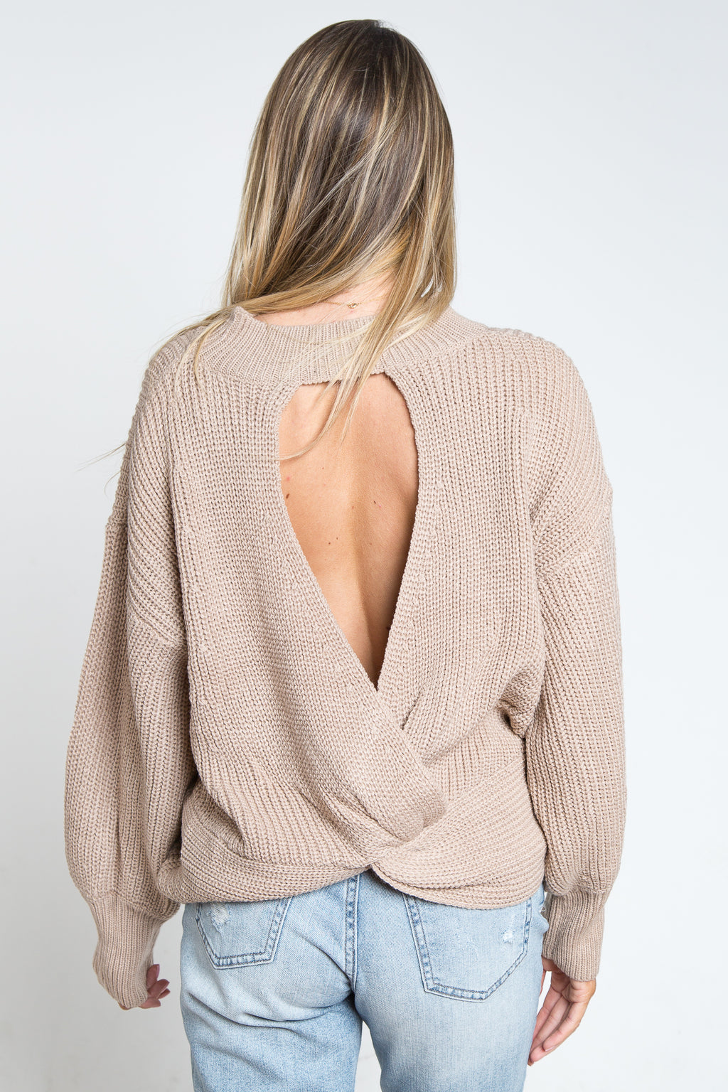 Oriana Open Back Sweater
