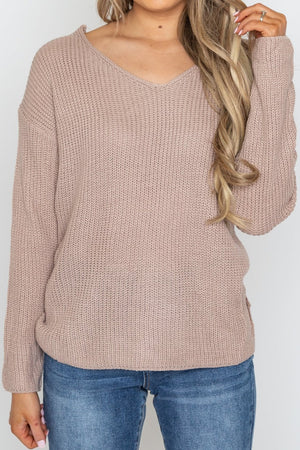 Alex Open Back Sweater Blush