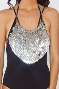 Leaf Sequin Top