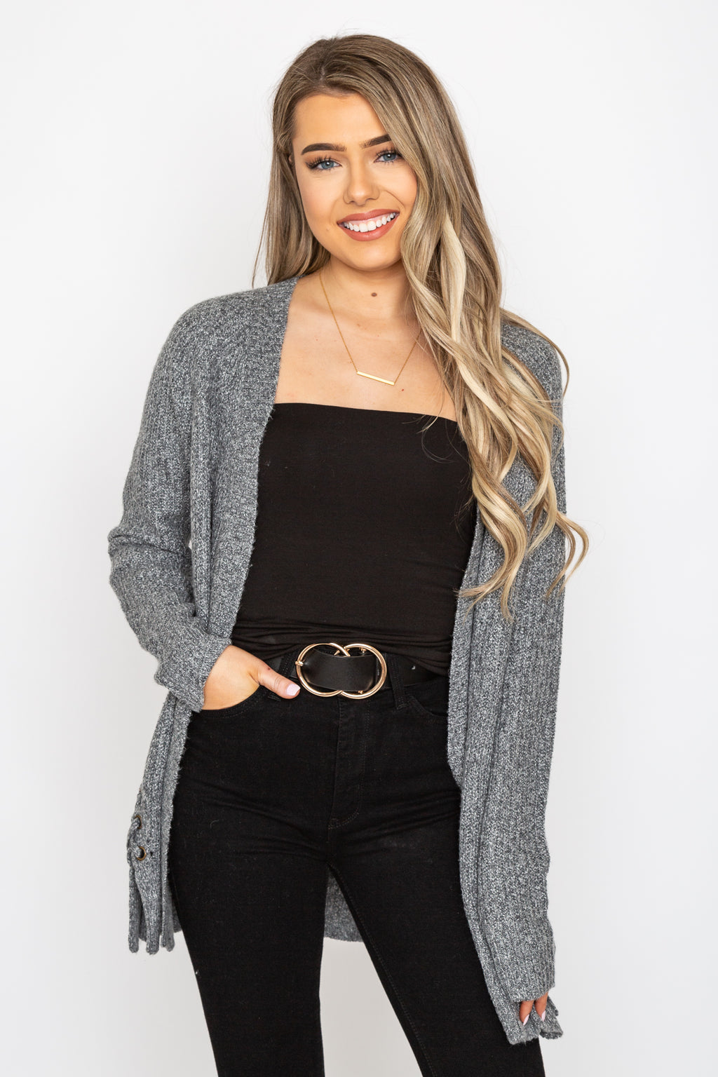 Lumi Lace Up Cardigan