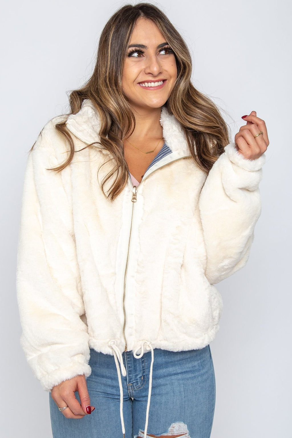 Jacie Faux Fur Jacket