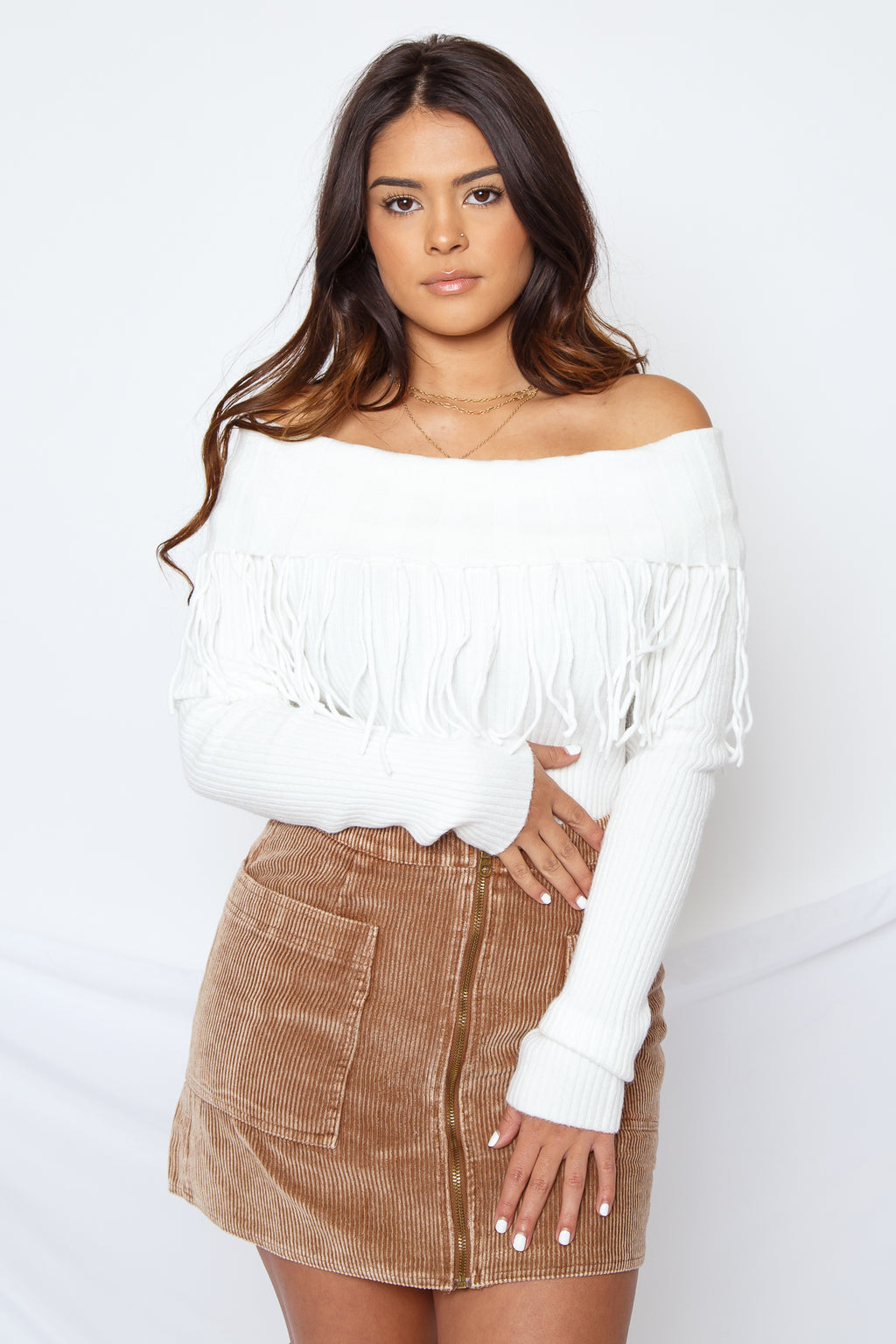 Kerry Fringe Sweater