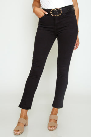 Just Black High Rise Cigarette Jean