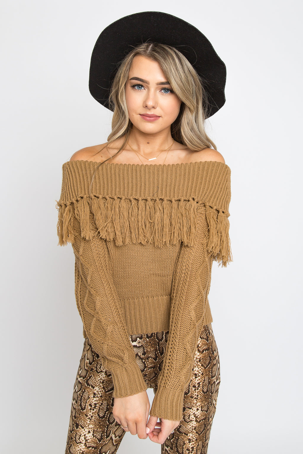 Aly Fringe Sweater