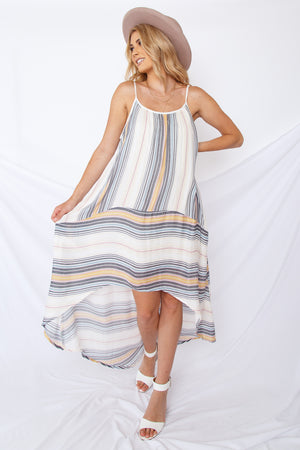 Izzy Rainbow Striped Dress