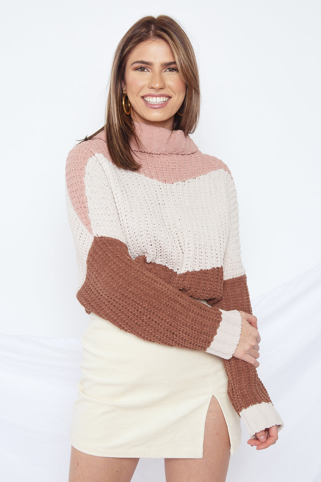 Danielle Turtleneck Sweater Canyon Rose