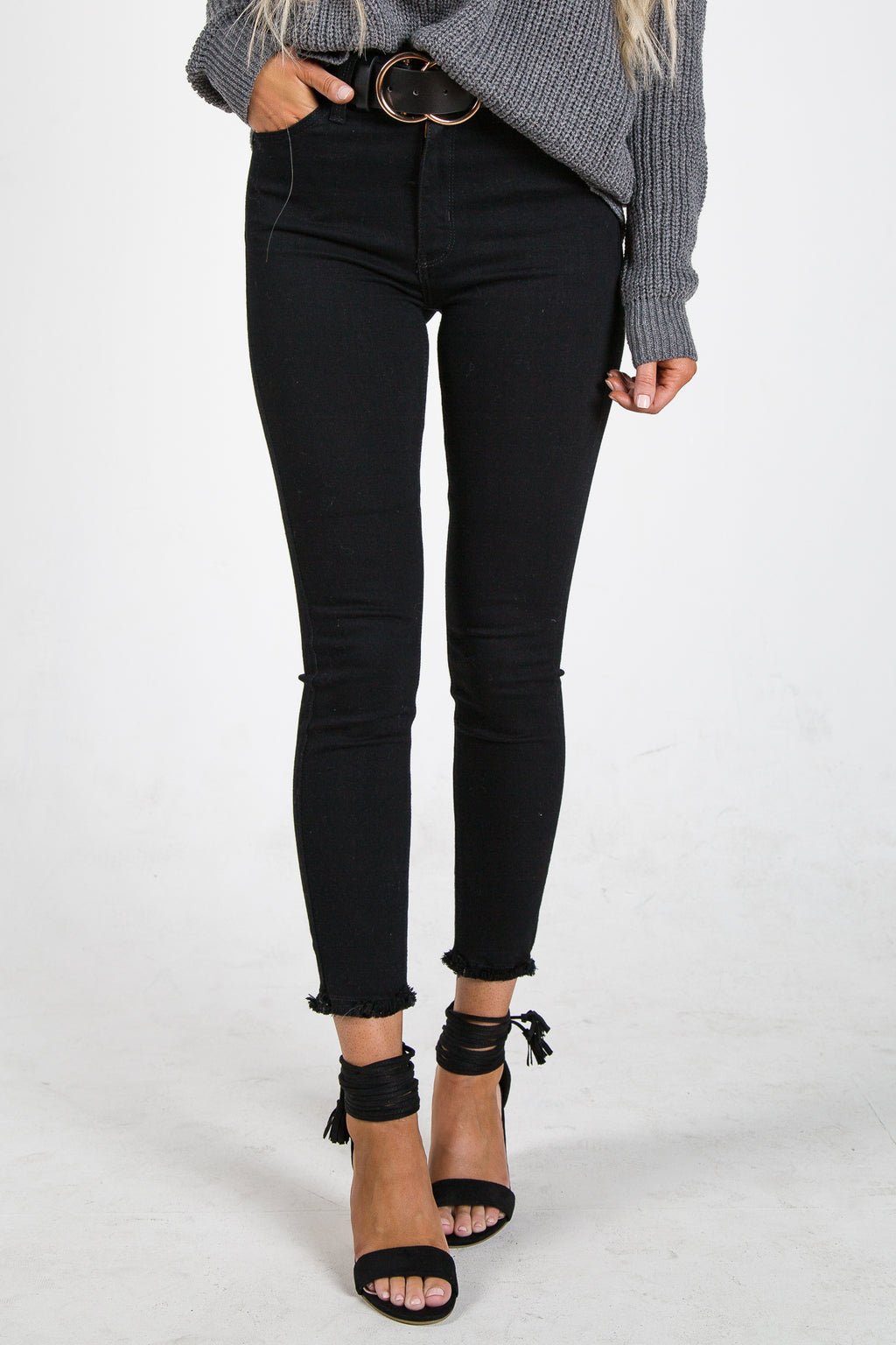 Just Black High Rise Skinny
