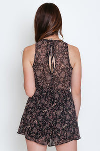 Ainsley Romper Black Combo