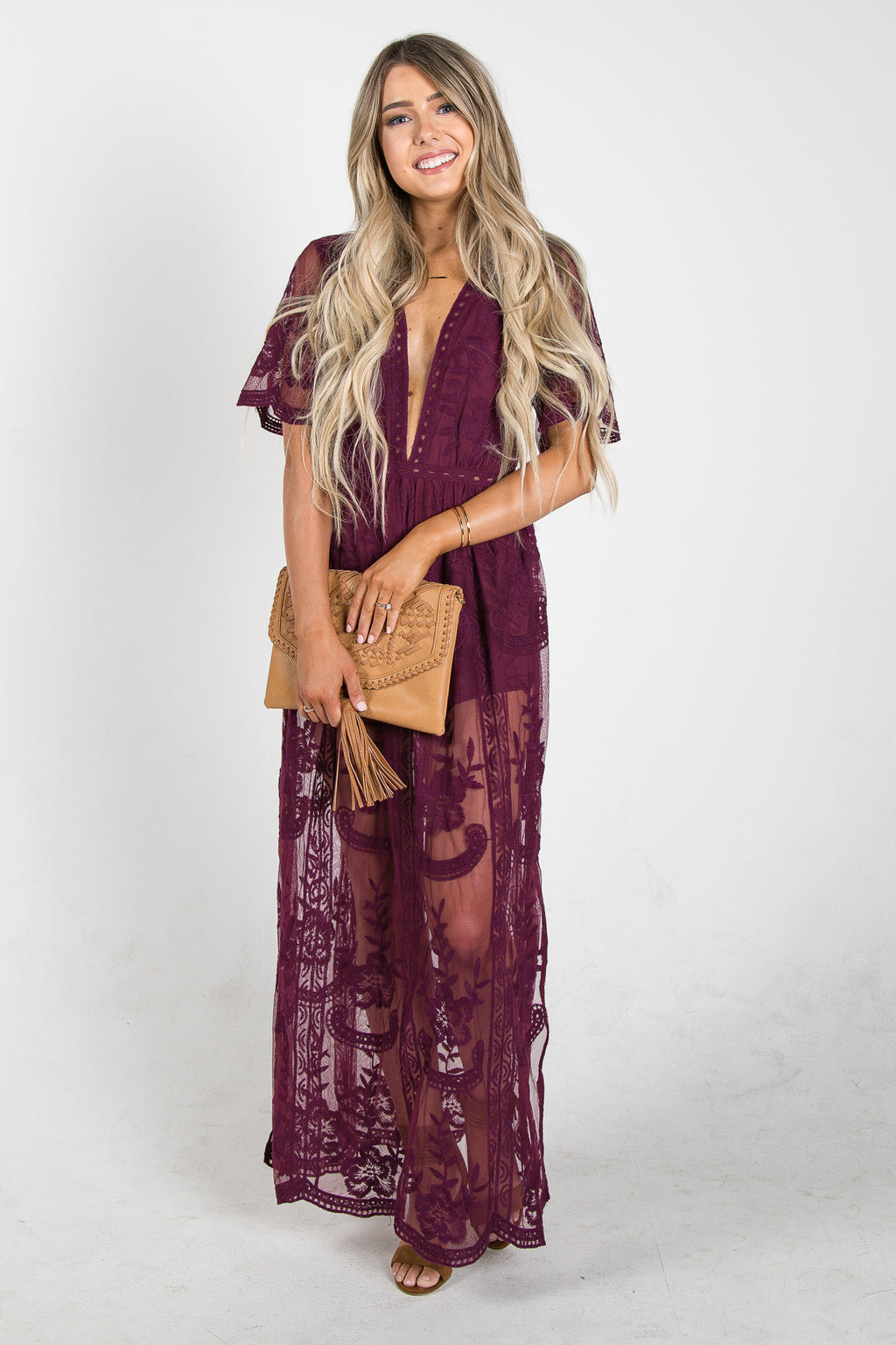 Chloe Dress Wine