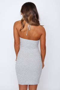 River Halter Dress Grey