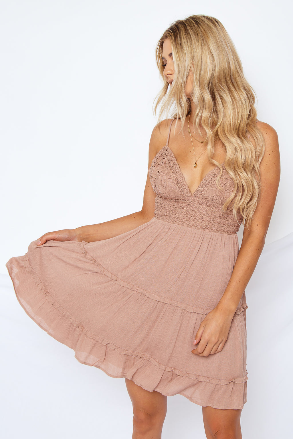 Ariana Dress Mauve