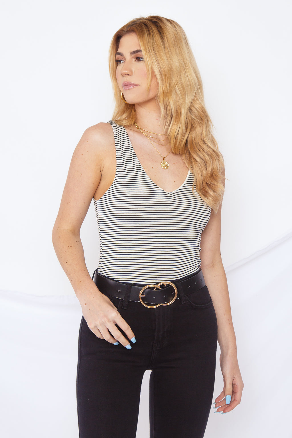 Callie Top Ivory/Black