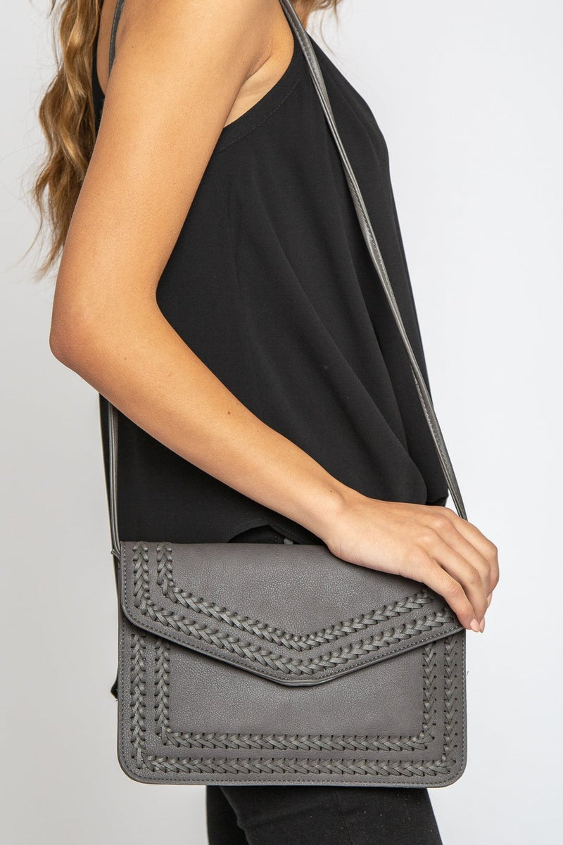 Everly Clutch Grey