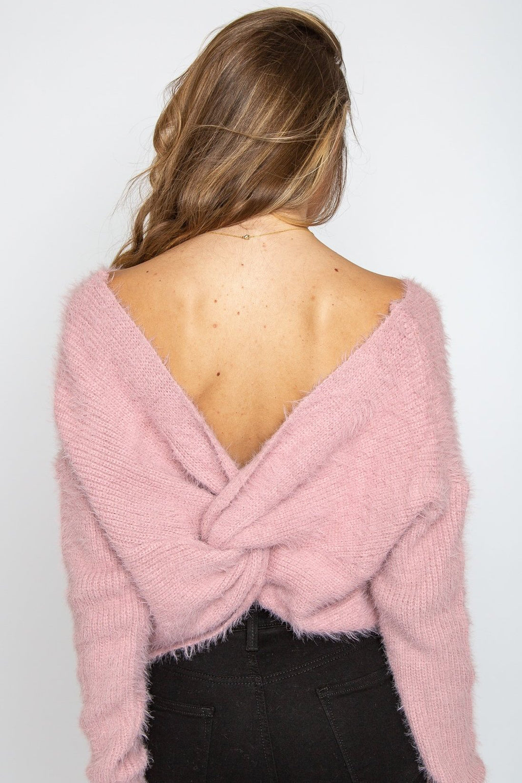 Mila Open Back Sweater