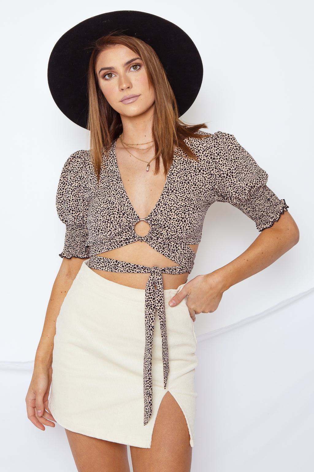 Darcy Crop Top Leopard
