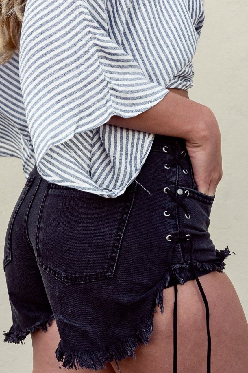 Teagan Lace Up Shorts