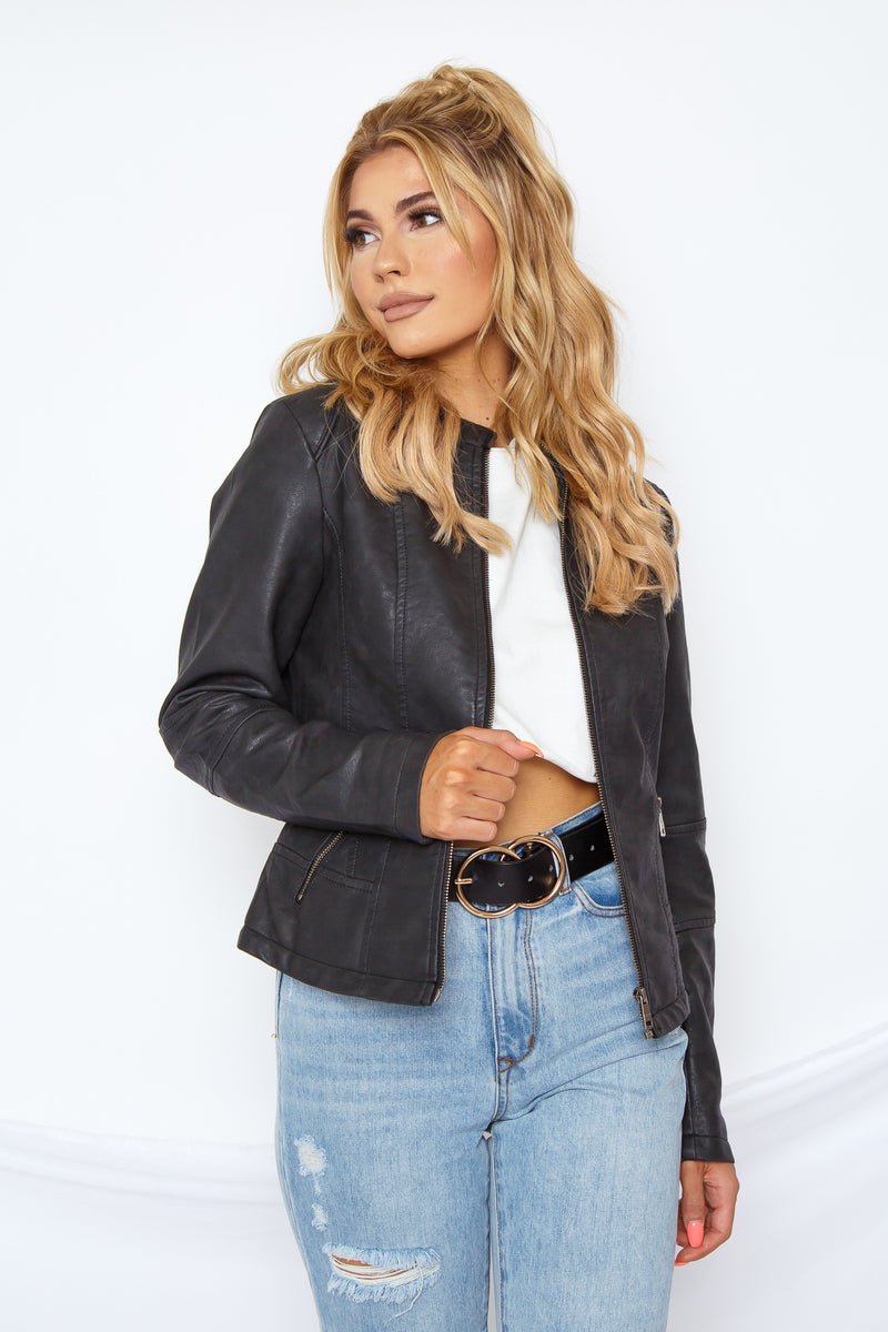Goldie Faux Leather Jacket