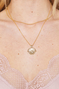 Iris Choker Coin Necklace