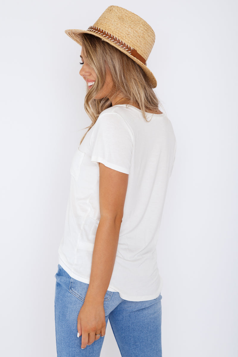 Arlo Pocket Tee Ivory