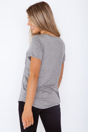 Arlo Pocket Tee Grey