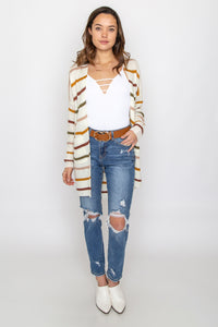 Eva Striped Cardigan