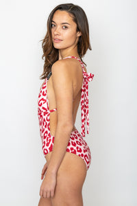 Red Leopard One Piece