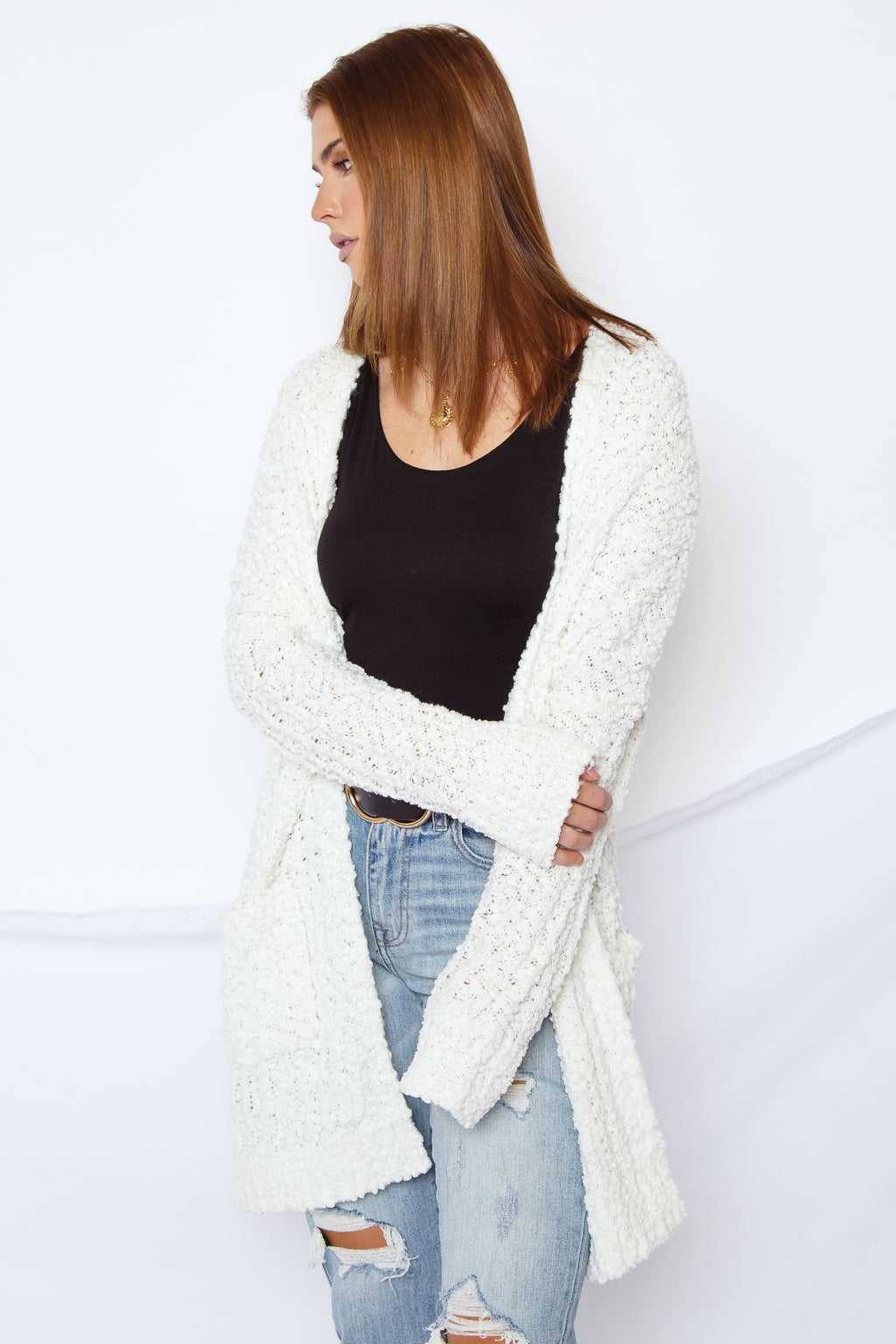 Alba Cardigan Snow White