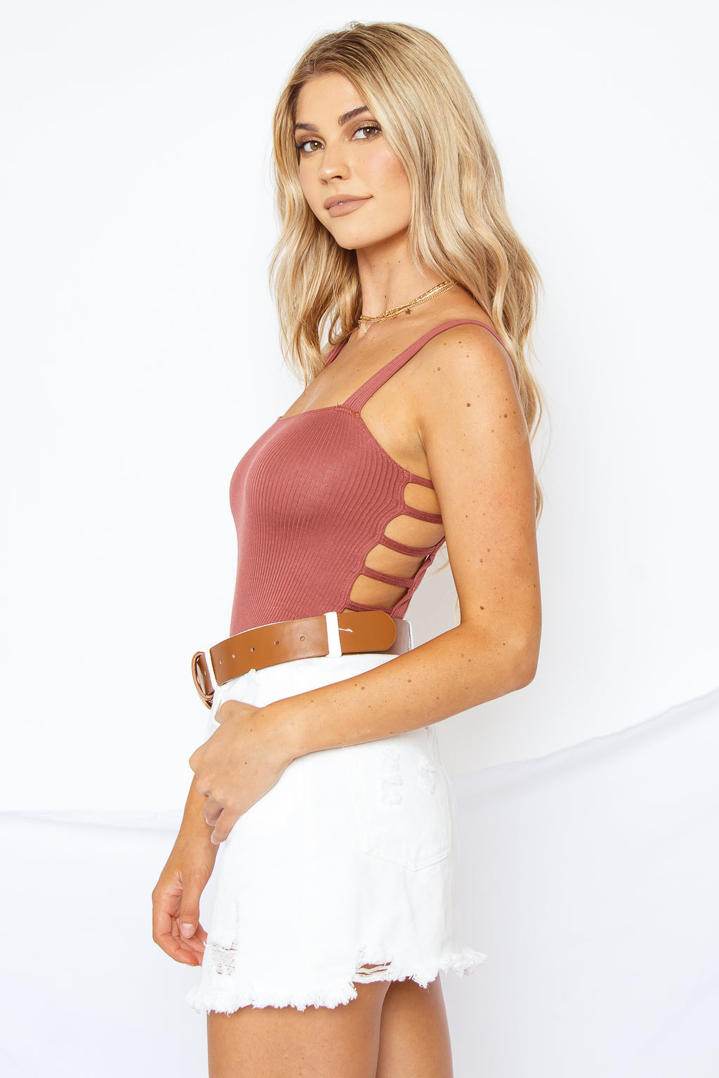 Bailey Bodysuit Rust