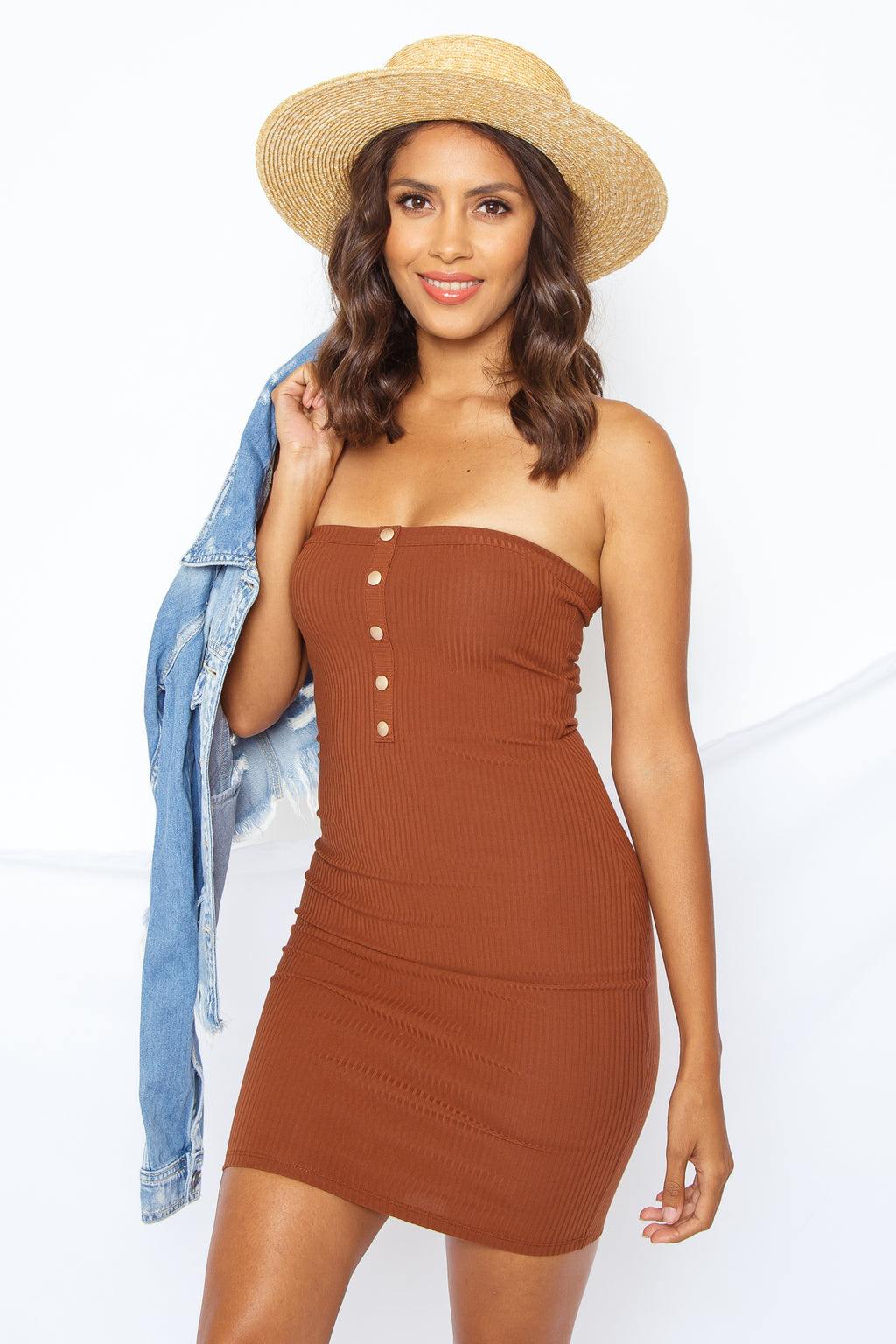 Tiffany Tube Dress Chestnut