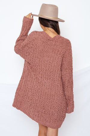 Alba Cardigan Red Bean