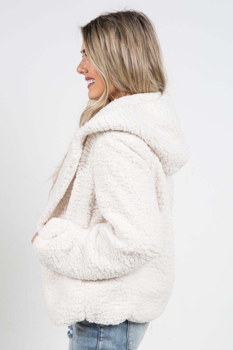 Bellatrix Faux Fur Coat Ivory