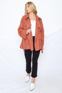 Kennedy Trench Coat Teracotta